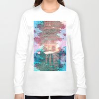 lunar Long Sleeve T-shirts featuring Lunar Arboretum by DEMETRI ESPINOSA