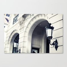 New York, NYC, Ralph Laurent Store on black and white Canvas Print