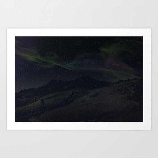 Hoth Northern Lights Art Print