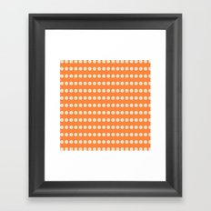 Circular Orange Dots Pattern Framed Art Print