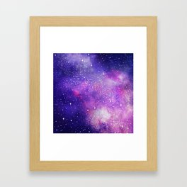 Space Nebula Galaxy Stars Framed Art Print