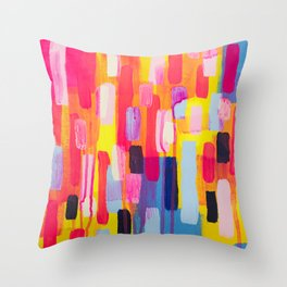 Neon Cities Throw Pillow