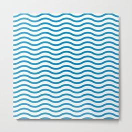Wave Line Pattern Metal Print