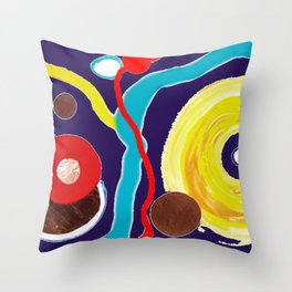 SPACE EXCURSION                by   Kay Lipton Throw Pillow