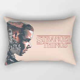 Stranger Things Collage Artwork With Eleven And the Main Cast Rectangular Pillow