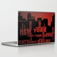 cities Laptop & iPad Skins featuring Cities by Colin Webber