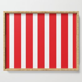 Resort Stripe in Red Serving Tray
