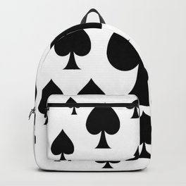 LOTS OF DECORATIVE BLACK SPADES CASINO ART Backpack
