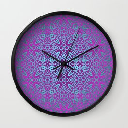 70's style Celtic Knotwork V2 Wall Clock