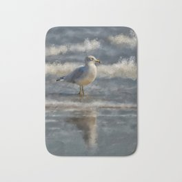 Seagull By The Seashore Bath Mat