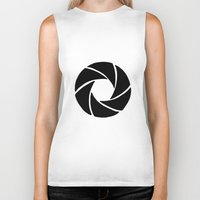 aperture Biker Tanks featuring Aperture by PlayWithFireDieInIce