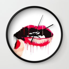 Simply Lips Wall Clock