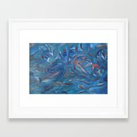 life aquatic Framed Art Prints featuring Aquatic by Victoria Bladen