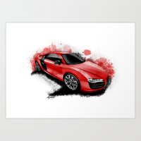 audi Art Prints featuring R8 V10 by an.artwrok