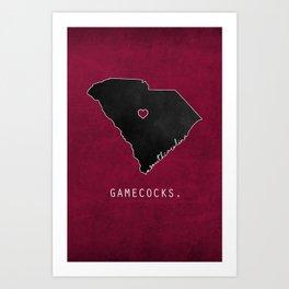 Gamecocks Art Print