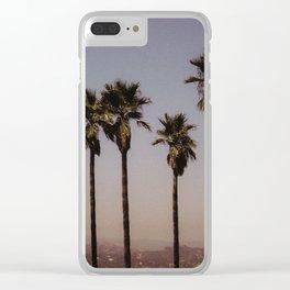 california palms Clear iPhone Case