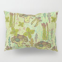 Green vegetables pattern. Pillow Sham