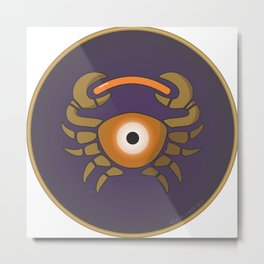 cancer's eye Metal Print