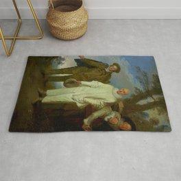 "Antoine Watteau ""The Italian Comedians"" (II) Rug"