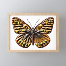 Brown and yellow butterfly Framed Mini Art Print