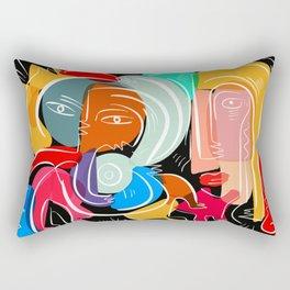 Love your family expressionist cubist street art Rectangular Pillow
