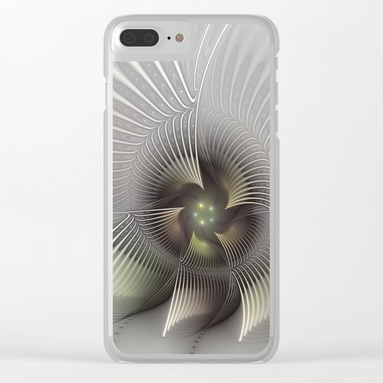 Stand Up, Abstract Fractal Art Clear iPhone Case