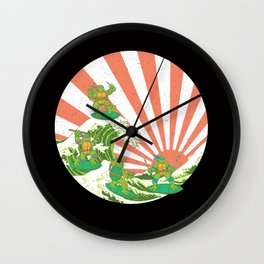 Sewer Surfing Wall Clock