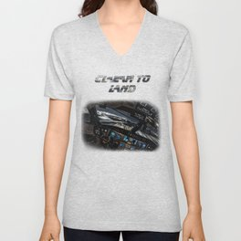 32R Clear to land Unisex V-Neck