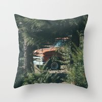 ford Throw Pillows featuring Ford by danotis