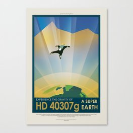 HD 40307 g - NASA Space Travel Poster Canvas Print