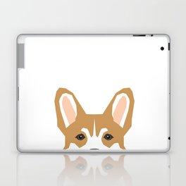 Welsh corgi peeking head corgis dog breed cute pet gifts Laptop & iPad Skin