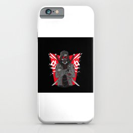 Cool Samurai player character gift motif iPhone Case