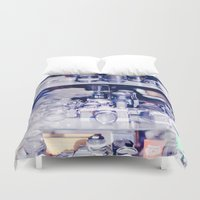 cameras Duvet Covers featuring Cameras by Sushibird