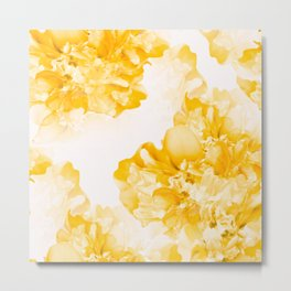 Beautiful Peony Flowers White Background #decor #society6 #buyart Metal Print