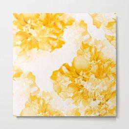 Beautiful Peony Flowers White Background #decor #society6 #buyart Metal Print