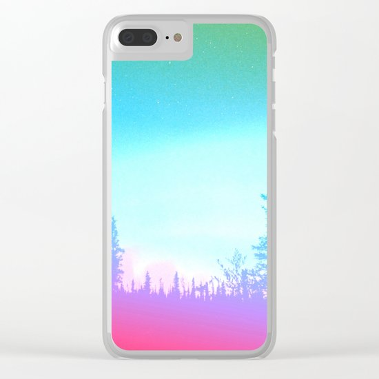 Bright Colorful Forest Clear iPhone Case