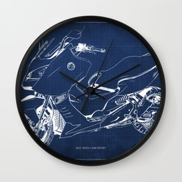 21 C600 Sport BLUE blueprint motorcycle Wall Clock