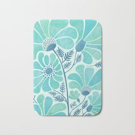 Himalayan Blue Poppies Bath Mat