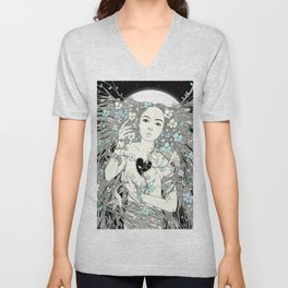 Tangled Up in Life (A Portrait of Nature) Unisex V-Neck