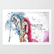 one winged Art Print