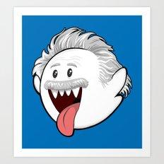 Boo Einstein Art Print