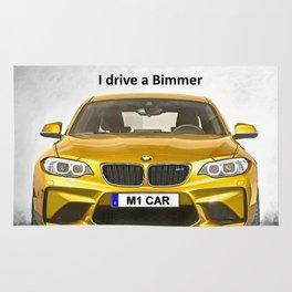 A Bimmer car Rug