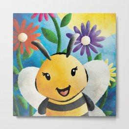 Hoda Kotbee - Morning Show Bee! - Nursery Art Metal Print