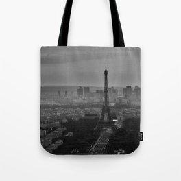 Black and White Eiffel Tower - Paris Tote Bag