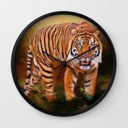 Sumatran Tiger Wall Clock