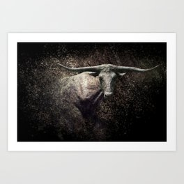 Of The Longhorn Art Print