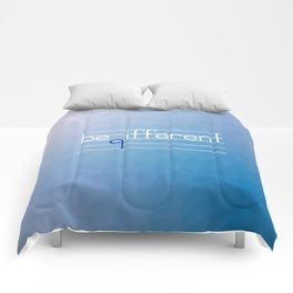 Be Different Typography Design Comforters