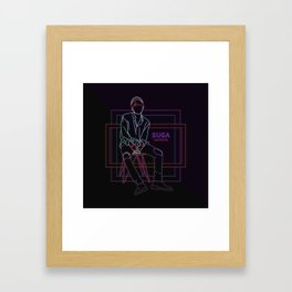 BTS SUGA FIRE Framed Art Print
