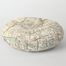 Vintage Map of South Africa (1889) Floor Pillow