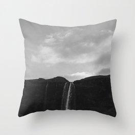 Iceland Waterfall Throw Pillow